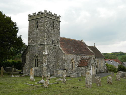 Tarrant Keyneston Church from South-West
